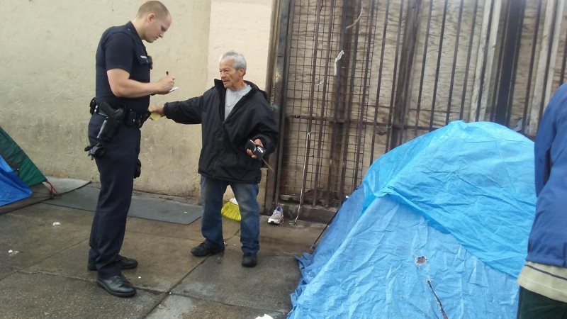 "Sweeps in Skid Row (under the auspices of ""Operation Healthy Streets"")."