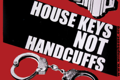 House Keys Not Handcuffs Stiker