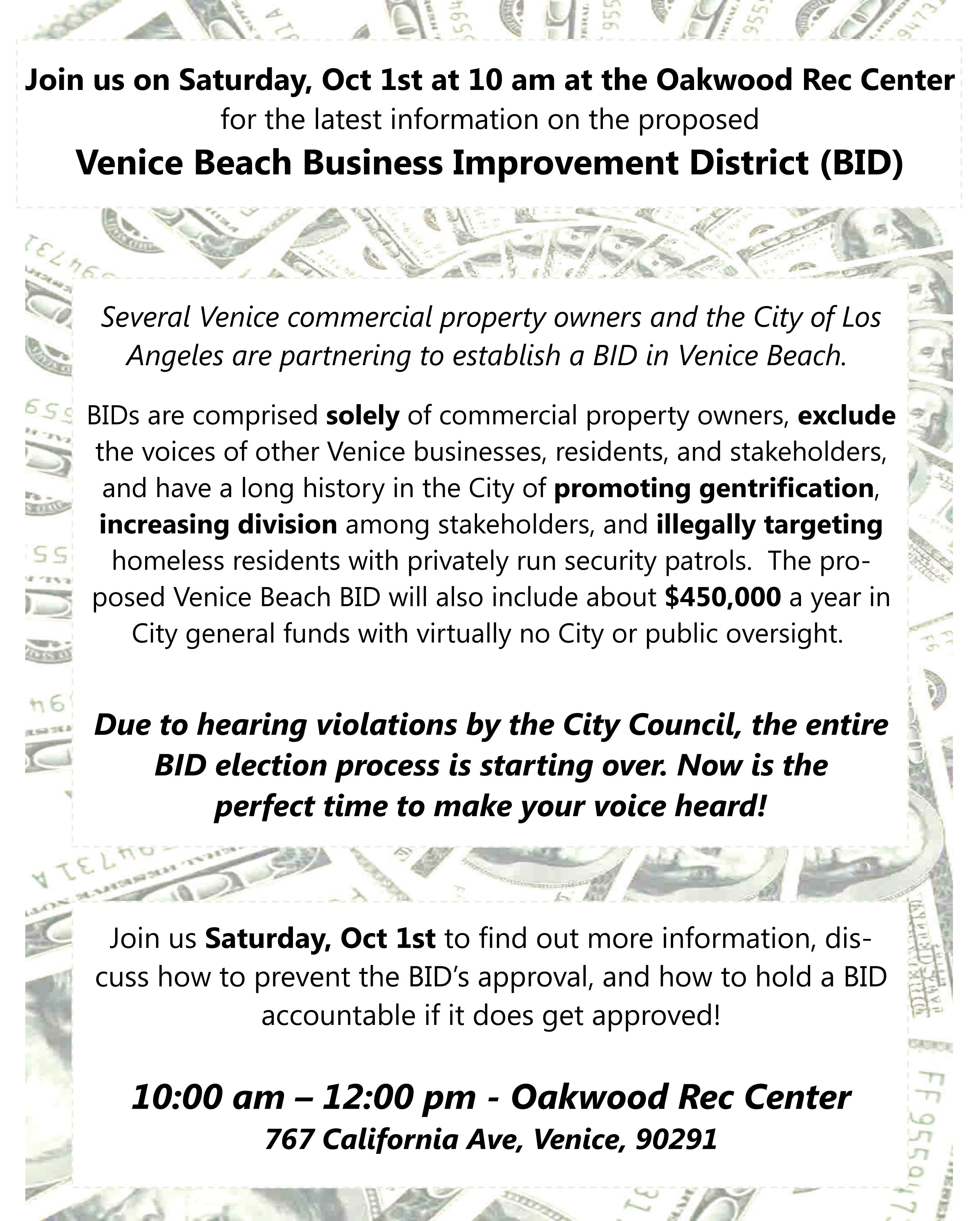 Wrap Several Venice Commercial Property Owners And The City Of Los Angeles Are Partnering To Establish A Bid In Venice Beach Wrap