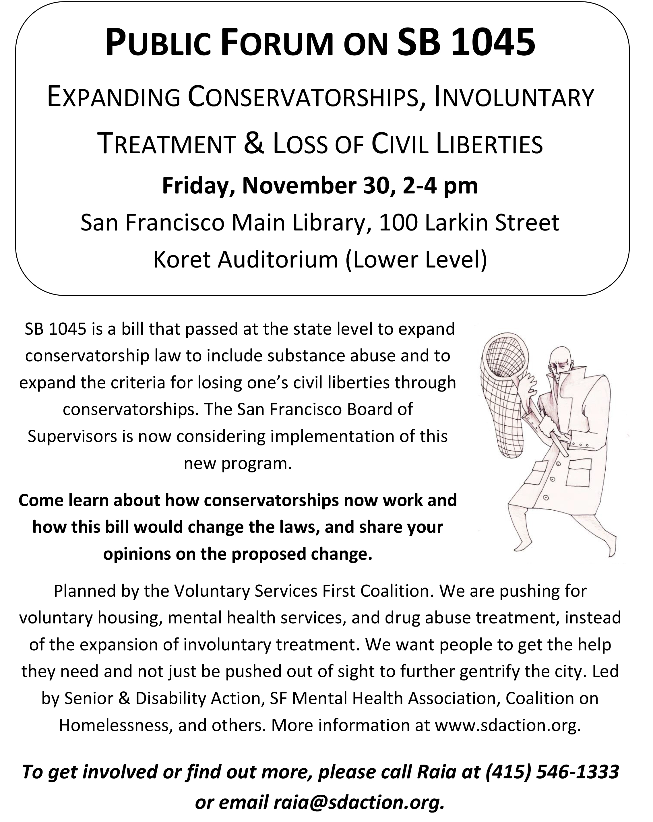 WRAP | Public Forum on SB 1045 Expanding Conservatorships