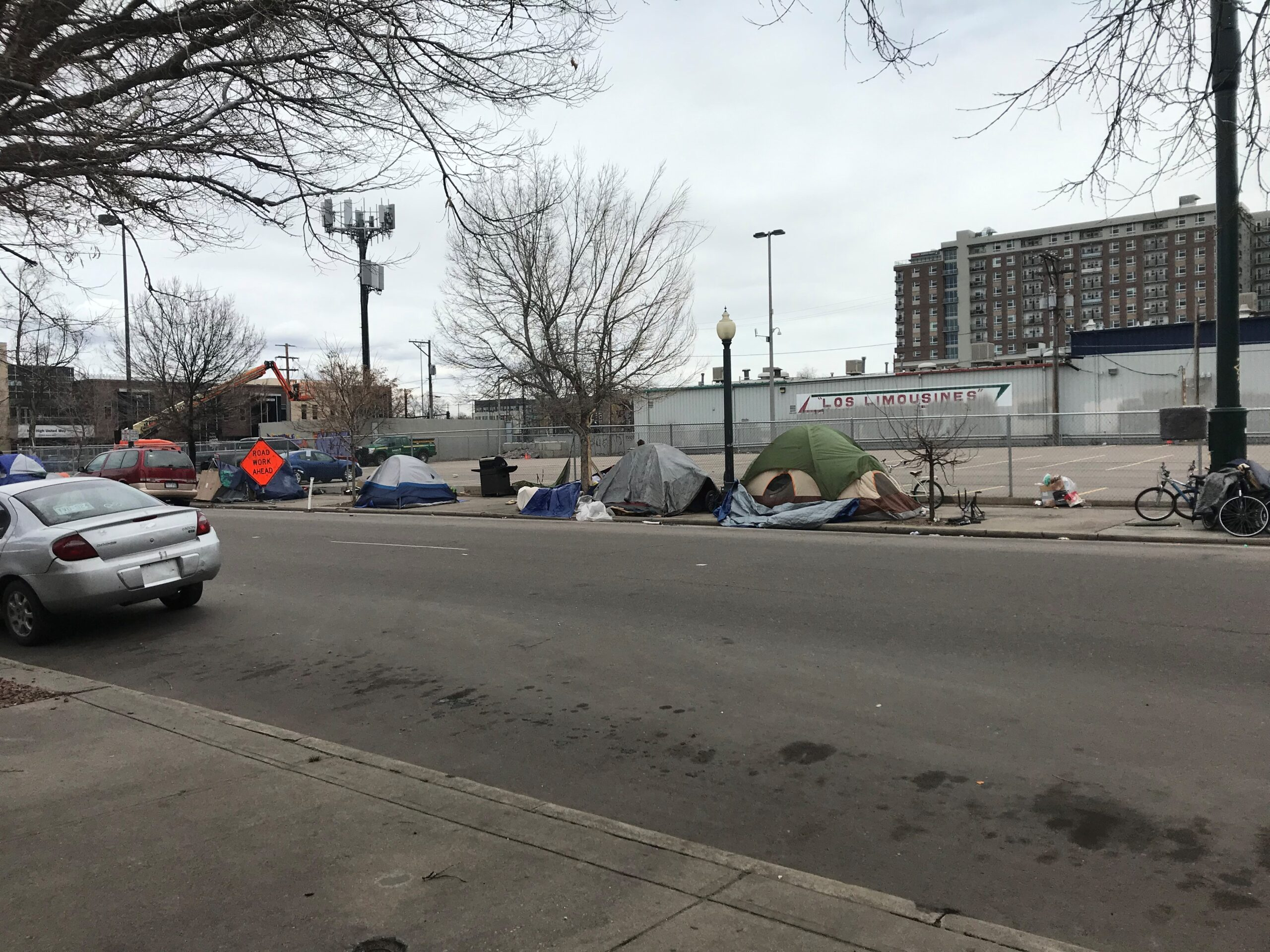 just one of the many blocks of encampments in these blocks